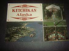"Vintage Rppc Ketchikan, Alaska. ""The Gateway City"" Totem Bright Park (post card)"