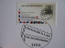 ERSTAUSGABE - POSTFLUG in DEUTSCHLAND 19.05.1912 - STEMPEL v.  13.09.2012 BONN