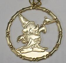 80s Disney Mickey Mouse Sorcerer's Apprentice/Fantasia Gold Christmas Ornament