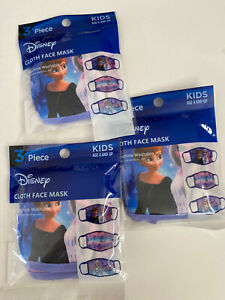 Anna And Elsa Girls Face Mask 3 Packs 9 Mask %100 Cotton