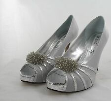 Ladies Shoes Size 6 Light Grey Party, Prom, Wedding Evening (K5/7/17-1)