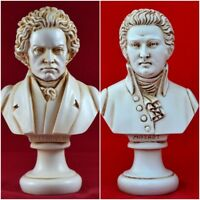 Beethoven and Mozart Busts greek statue  NEW Free Shipping - Tracking