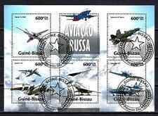 Avions Guinée Bissau (67) série complète de 5 timbres oblitérés