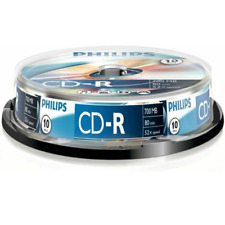 Philips CD-R | Premium Blank Recordable CD Discs In Sleeves | 80 Min 52x 700MB