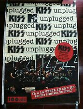 KISS MTV UNPLUGGED SPANISH BIG PROMO POSTER 100cm X 140cm MUY RARO