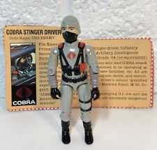 Vintage 1984 Gi Joe Cobra Stinger Driver W File Card ARAH