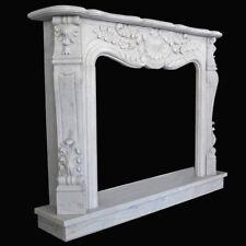 Cadre Cheminée Marbre Blanc Carrara pour cheminée Liberty blanc marbre Fireplace
