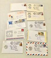 Vintage Cancelled Stamped Envelopes 1968 1983/87/88 1990/93 Lot of 11