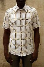MARLBORO Camicia Casual Da Uomo Tartan Verificato Lavaggio Acido Cotone a Maniche Corte M