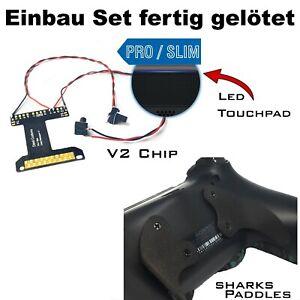PS4 Controller Remapper gelötet, V2 Chip + Shark Schwarz Paddles und Schrauben
