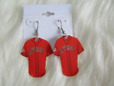 HANDMADE PLASTIC HOUSTON ASTROS ORANGE JERSEY EARRINGS!!! WORLD SERIES!!!!