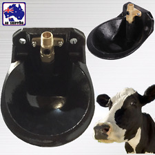 Water Trough Cast Iron Automatic Pressure Activated Feeder Cow Sheep PCRI48901