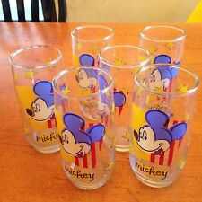 Vintage Disney Mickey Mouse Stars And Stripes Drinking glasses 6