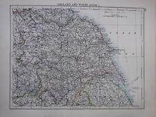 1897 Inghilterra vittoriana MAP ~ & Galles NORD EST York Norh Riding dello scafo Lincoln