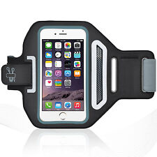 "iPhone 6/6S 4.7"" Black Lycra Armband Running Reflective CreditCard Holder"