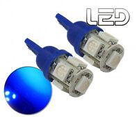 2 Ampoules 5 LED Bleu W5W T10  Habitacle plafonnier Boîtes à gants Coffre