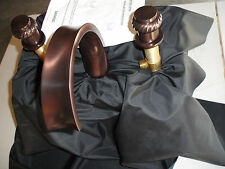 """BARAND CANNON COVE COL CONCAVE """"C"""" ROMAN ROPE RING HANDLES OIL RUBBED BRONZE"""