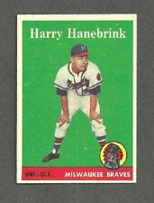 1958 Topps #454 Harry Hanebrink - Milwaukee Braves - EX/MT+ Additional ship free