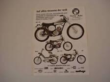 advertising Pubblicità 1975 PUCH MC 125/175 - MAXI