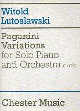 Witold Lutoslawski Paganini Variations Solo Piano Orchestra Score Music Book