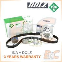 INA DOLZ HEAVY DUTY TIMING BELT KIT CAMBELT SET TENSIONER PULLEY & WATER PUMP