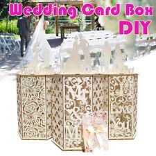 DIY Wooden Wedding Card Box Gift Card Storage Holder Anniversary Party