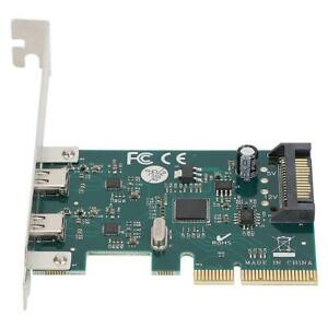 PCI-Ex4 Expansion Card Double USB Type-C Port Master Controller Network Card MDF