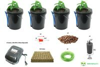 XerXes Hydroponics Deep Water Culture DWC Hydroponic System,5 Gallon [Set of 4]
