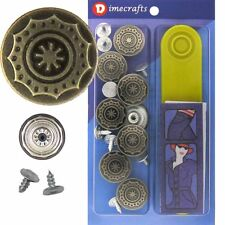 17 mm No-Sew Replacement Jean Tack Buttons w/Tool (FF68E)  8 CT.