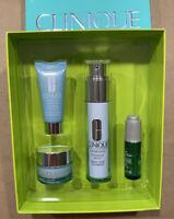 Clinique Turnaround skin care 4-pieces set:serum, oil, day and night moisturizer