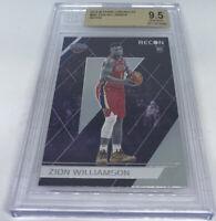 2019-20 Panini Chronicles Recon 292 Zion Williamson Pelicans RC BGS 9.5 GEM MINT