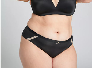 NEW LANE BRYANT CACIQUE SIZE 14/16 BLACK EXTRA SOFT CHEEKY PANTY