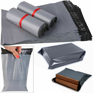 """100x Grey 6"""" x 9"""" Mailing Bags Strong Parcel Postage Plastic Post Poly Self Seal"""