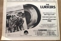 LURKERS single & Golden Gig Tour 1978 UK Press ADVERT 12x8 inches