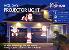 Kshioe Christmas Projector Light Moving Santa Claus LED Laser Lamp Outdoor Party