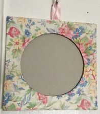 Chintz Floral Paper Traveling Purse Picture Photo Frame in box w plastic lid