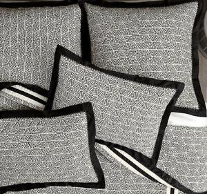 Ballard Designs Behati Black Ivory King Quilt