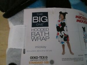 "Disney Mickey Mouse Hooded Beach Swim Bath Wrap Towel 25"" x 50""  The Big One"