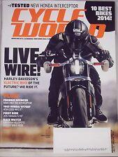 Cycle World Magazine September 2014 Harley Davidson's Future Electric Bike NEW