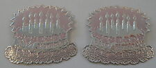Dennison Store Stock Vintage 1950's Silver Foil Birthday Cake Candl Stickers TWO