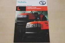 158588) Kubota L 3200 4100 Diesel Traktor Prospekt 03/2010