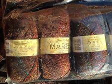 JAMES C BRETT DOUBLE KNITTING WOOL LILAC BROWN ORANGE MARBLE 5X100G YARN MT32