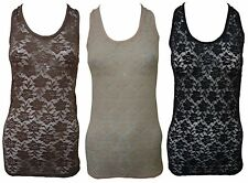 Unbranded Women's Floral Fitted Vest Top, Strappy, Cami Tops & Shirts