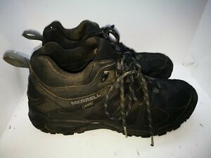 Merrell black gore tex walking ankle boots size 9
