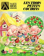 Les Trois Petits Cochons - Eds. Lito - Coll. Mini-Adhésifs - 1976
