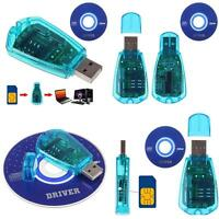 EG_ USB Cellphone SIM Card Reader Copy Cloner Writer SMS Backup GSM/CDMA+CD Pret