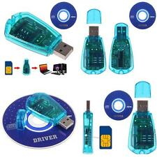 USB Cellphone SIM Card Reader Copy Cloner Writer SMS Backup GSM/CDMA+CD Pretty