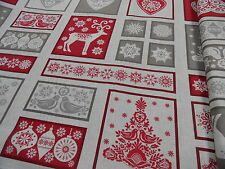 Tela patchwork - Makower Navidad - NUEVO 60 x 110 cm BW multicolor conmotivos