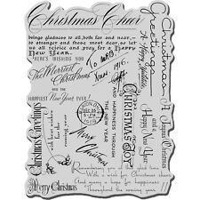 "Stampendous Crr144 Cling Stamp 4""X6"" Christmas Background New"