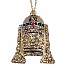 "Star Wars R2D2 Rhinestone Pendant Necklace with 16"" Chain"